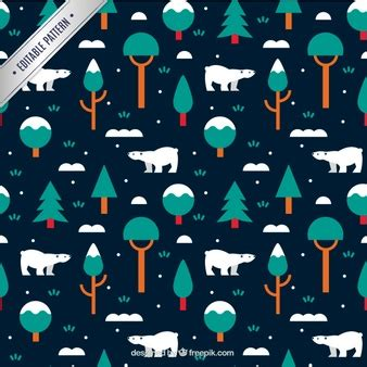 20 seamless photoshop grid patterns psd file free download winter pattern with polar bears and trees