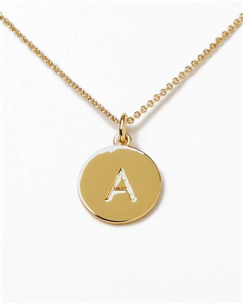 kate spade one in a million initial pendant necklace 18 in