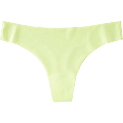 ultra thongs uniqlo women s ultra seamless thong underwear in green