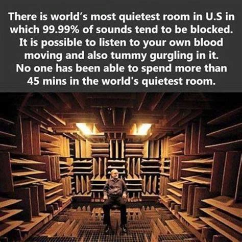 Worlds Quietest Room by The World S Quietest Room In U S Things That Made Me