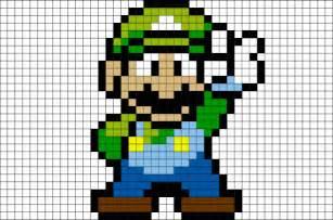 Luigi pixel art brik