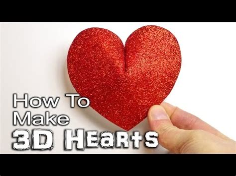 how to make ai you card how to make 3d hearts paper card and foam davehax