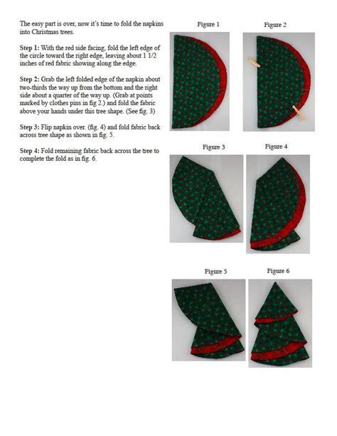Cloth Napkin Origami - set of 4 tree cloth napkins folding