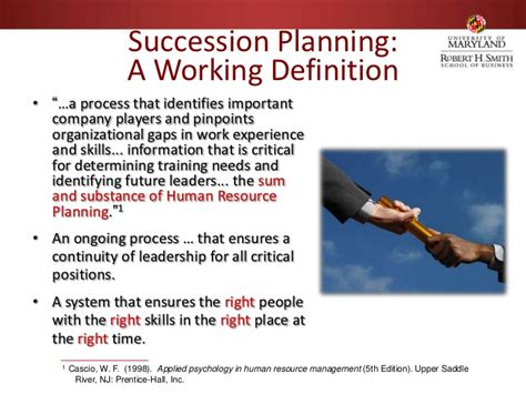 Importance Of Md Mba by Succession Planning Jeffrey Kudisch Of