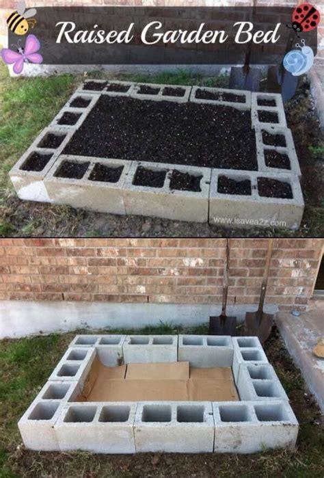 easy diy raised garden bed gardening pinterest