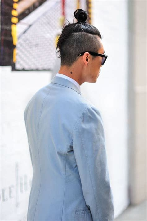 men growing hair for a top knot the undercut bun aka the top knot