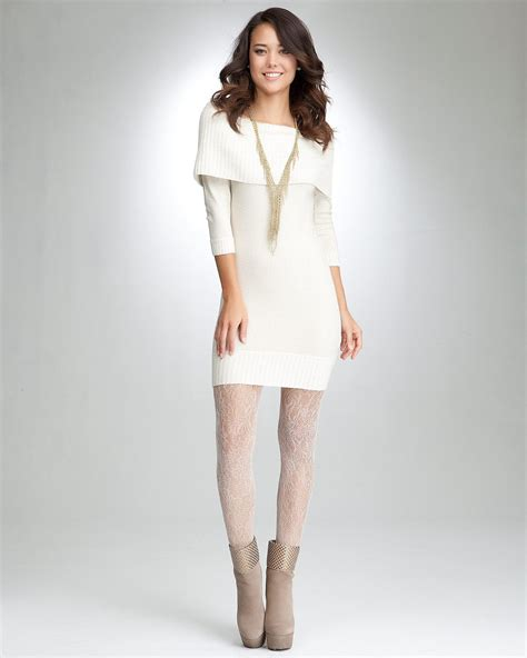 Sweater Dress - what to wear to a the shoulder