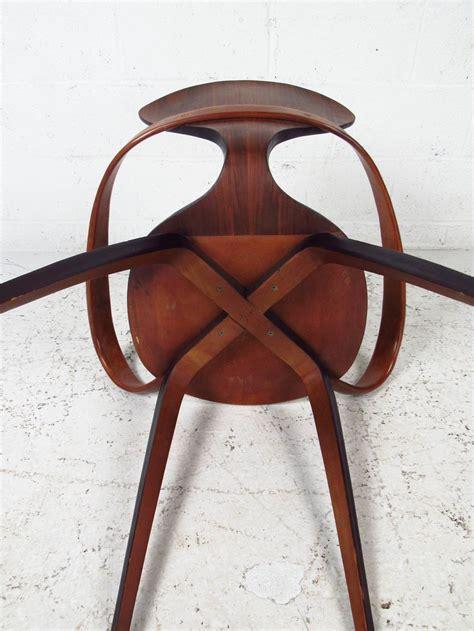 mid century modern norman cherner  plycraft bentwood pretzel chair  stdibs