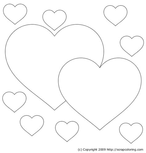 coloring pages of big hearts free coloring pages of big hearts