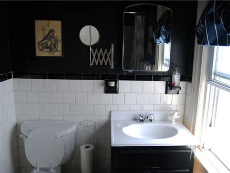 black painted bathroom paint color portfolio black bathrooms apartment therapy