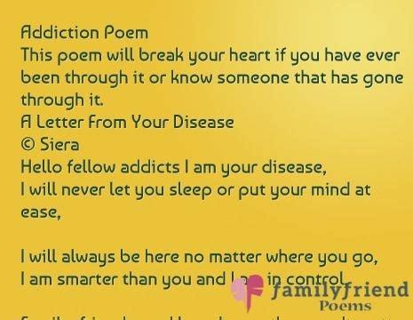 tion poem by david desantis poem encouraging letter to addict articleezinedirectory Addi