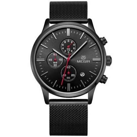 Megir Ms3006g Jam Tangan Analog megir mesh chrono jam tangan analog ms2011g black jakartanotebook