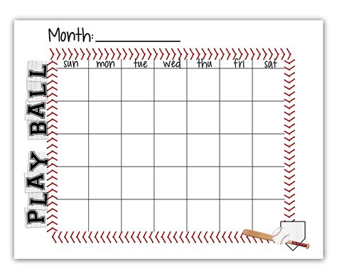 baseball schedule template free baseball schedule blank calendar free printable