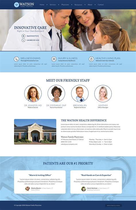 medical web design layout medical website design exle ideas collection cemah