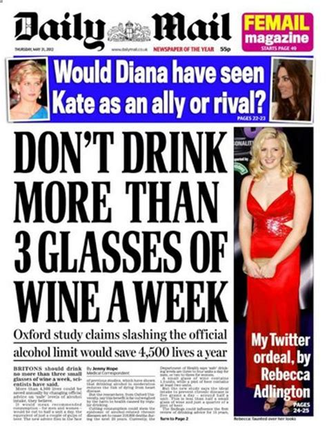 news latest headlines photos and videos daily mail online how much can we drink without risking our health jamie
