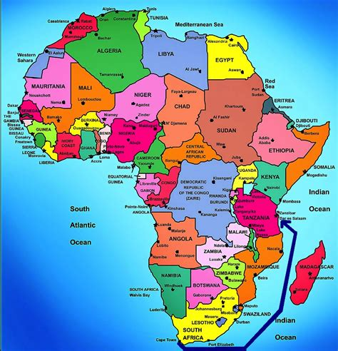 africa map 2013 obama heads to tanzania on last leg of tour