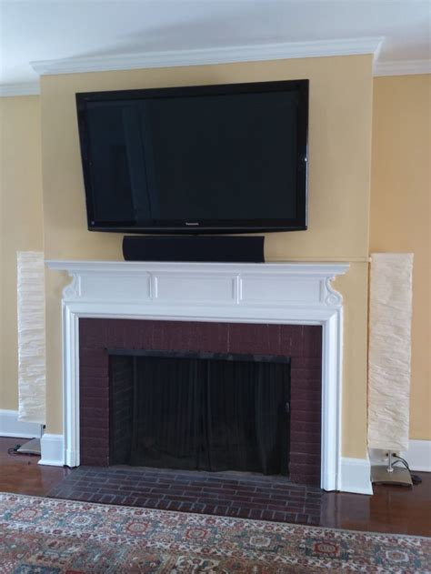 Mounting Tv In Brick Fireplace by 34 Best Images About Elemental Living Room Idea Book On