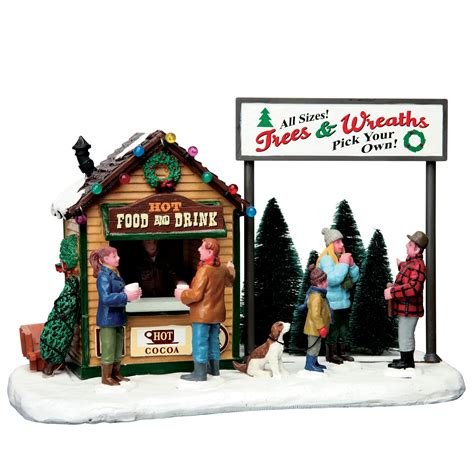 lemax village collection christmas village accessory trees