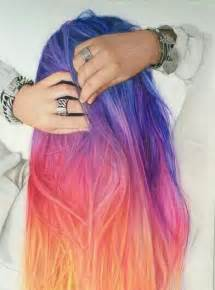 pretty colors to dye your hair sunset hair is the most beautiful ombre hair tint we ve