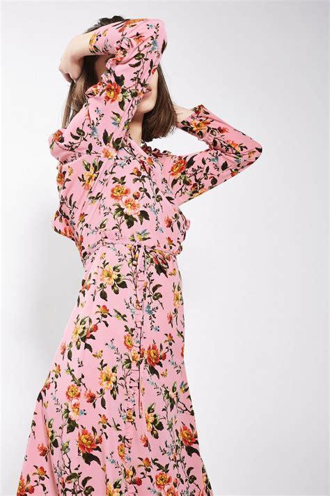 Ruffle Midi Dress floral ruffle midi dress clothing topshop