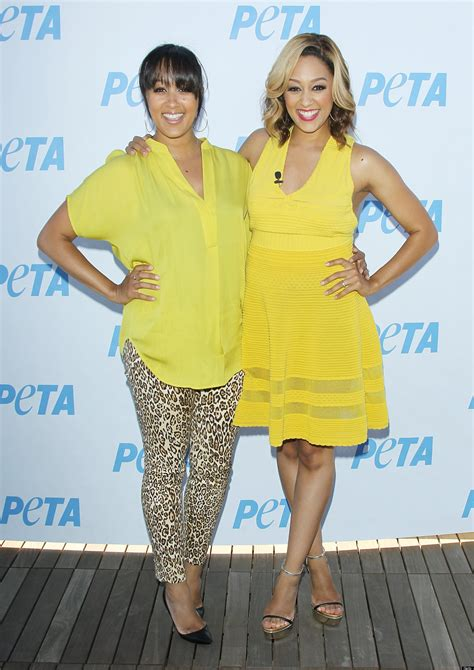 Tia And Tamera Mowry Get Their Twin Style On At Peta Ad | tia and tamera mowry get their twin style on at peta ad