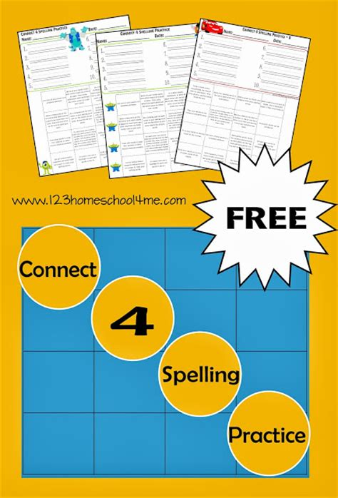 printable spelling games 4th grade free connect 4 spelling practice