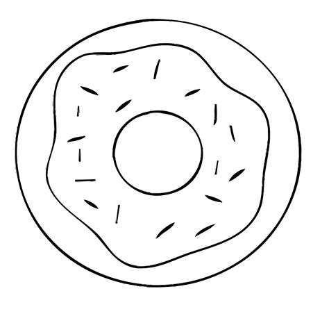 black and white donut clipart clipartsgram com