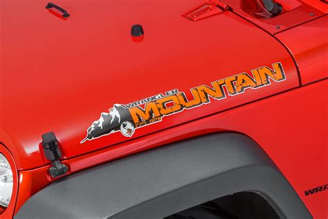 mountain jeep decals mopar 68086123aa quot mountain quot hood decal for jeep vehicles