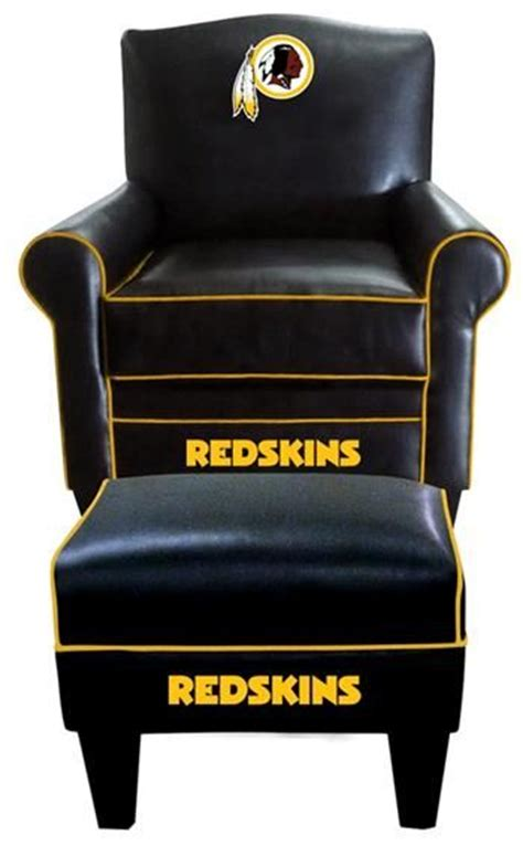 redskins recliner washington redskins nfl game time leather chair and ottoman