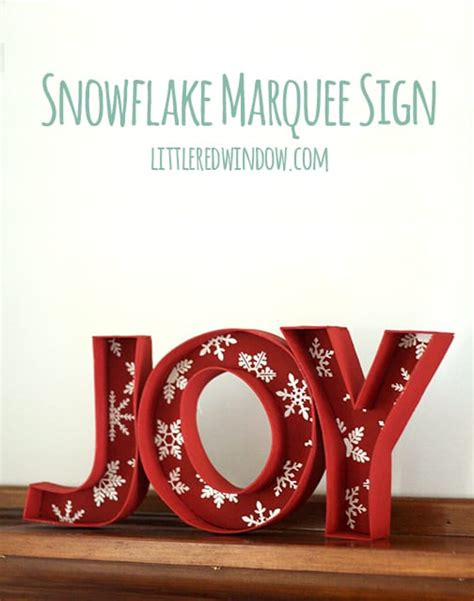 christmas snowflake marquee sign little red window