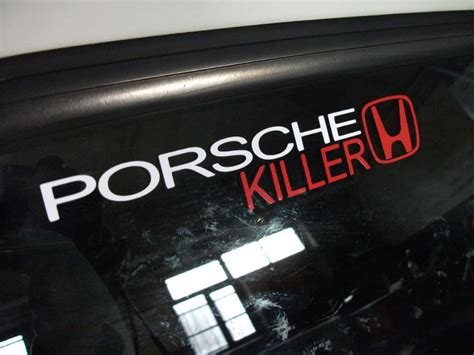Honda Killer Sticker porsche killer honda sticker decal for all motor or