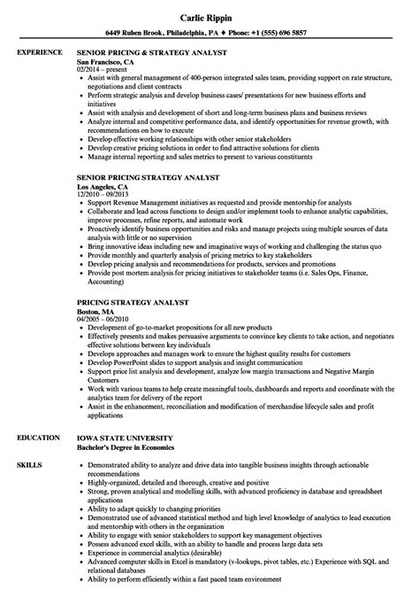 Strategy Analyst Cover Letter by Resume Strategy Supply Chain Resume Strategy Consulting