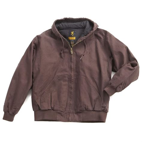 Jaket Canvas Brown Hoodie browning hooded cotton canvas jacket coat brown s xl new with tags 846571089682 ebay