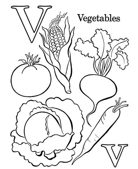 vegetable coloring pages for kids az coloring pages