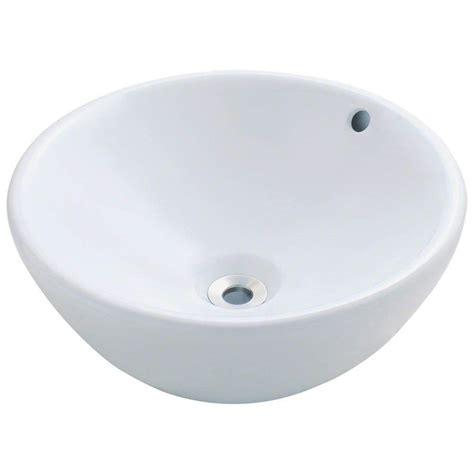 home depot white vessel sink polaris sinks porcelain vessel sink in white p0022v w