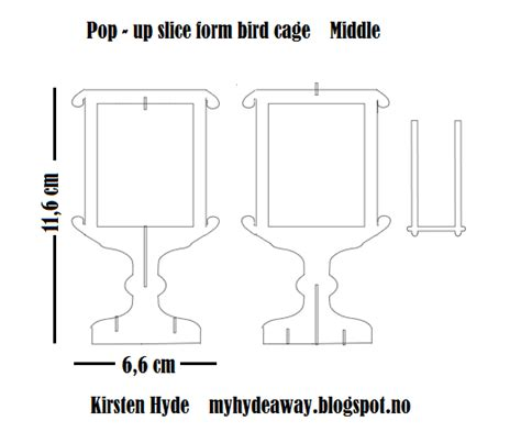 birdcage card template my craft and garden tales a pop up birdcage sliceform