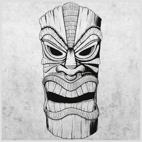 tiki head tattoo tiki drawings illustration tiki mask longboard tiki