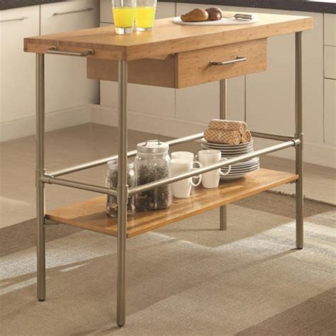 kitchen island legs metal coaster kitchen carts kitchen island with solid bamboo top and metal legs coaster fine furniture