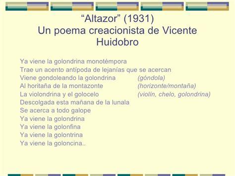 poetas famosos y sus mejores poemas vicente huidobro siglo xx poes 237 a