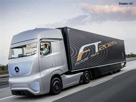 future mercedes truck future truck 2025 mercedes s self driving truck