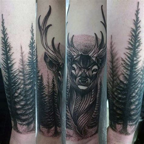 wildlife tattoos for men 90 deer tattoos for manly outdoor designs
