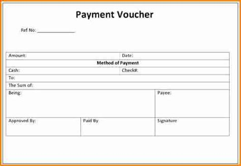 cheque receipt voucher template 7 payment voucher format in word simple salary slip