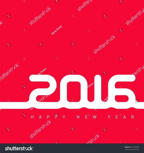 New Year Card Template 2016 by Happy New Year 2016 Creative Greeting Card Design