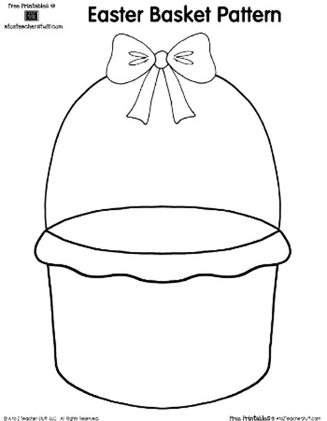 easter bunny basket template printable a to z stuff a to z stuff printable