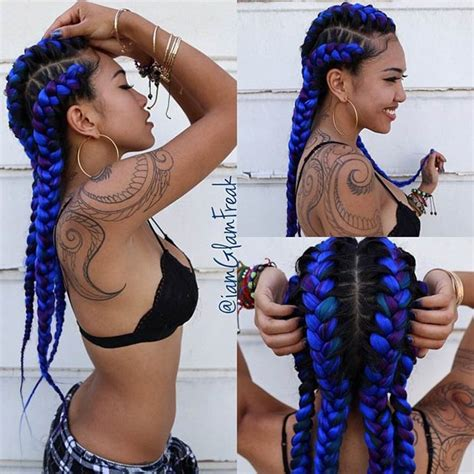 two braids purple goddess 31 goddess braids hairstyles for black women stayglam
