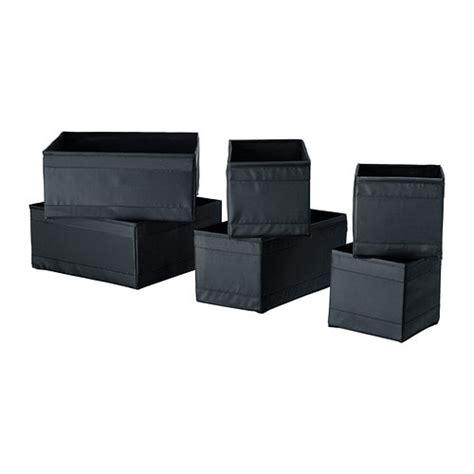 skubb kotak set 6 unit hitam ikea
