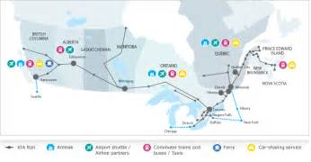 via rail canada route map via rail accesrail