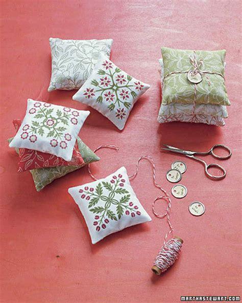 Handmade Sachets - patterned sachets martha stewart