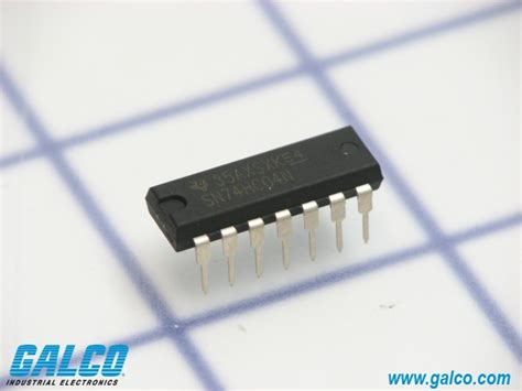 integrated circuit instruments sn74hc04n instruments integrated circuit galco industrial electronics