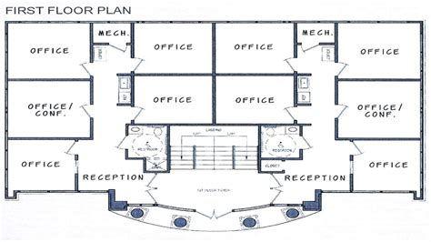 building floor plans small office building plans building